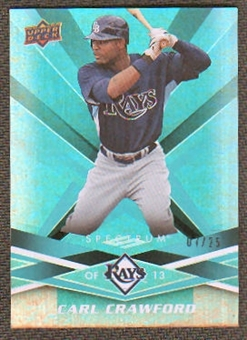 2009 Upper Deck Spectrum Turquoise #93 Carl Crawford /25