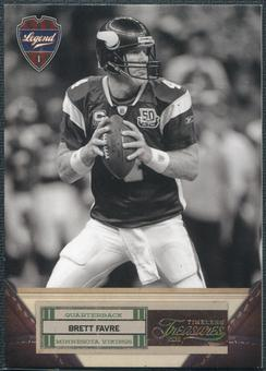 2011 Panini Timeless Treasures Gold #105 Brett Favre 13/49