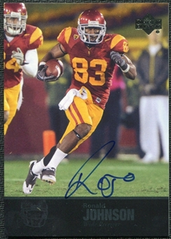 2011 Upper Deck College Legends Autographs #92 Ronald Johnson RC Autograph