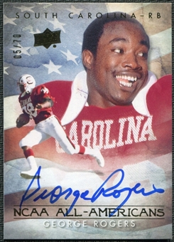 2011 Upper Deck College Legends All-Americans Autographs #AAGR George Rogers 5/70