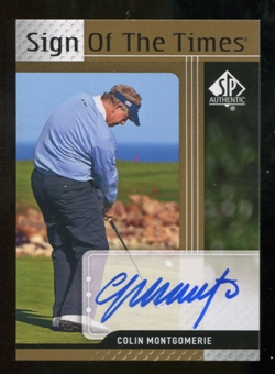 2012 Upper Deck SP Authentic Sign of the Times #STCM Colin Montgomerie E Autograph