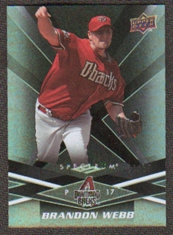 2009 Upper Deck Spectrum Black #1 Brandon Webb /50