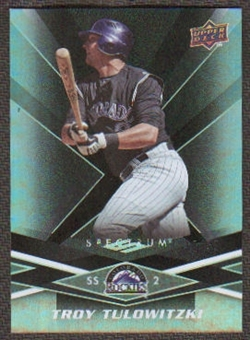 2009 Upper Deck Spectrum Black #33 Troy Tulowitzki /50