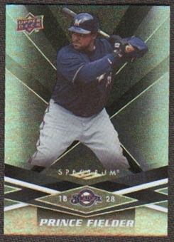 2009 Upper Deck Spectrum Black #55 Prince Fielder /50