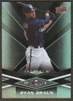 2009 Upper Deck Spectrum Black #56 Ryan Braun /50