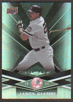 2009 Upper Deck Spectrum Black #67 Jason Giambi /50