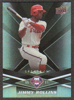 2009 Upper Deck Spectrum Black #75 Jimmy Rollins /50