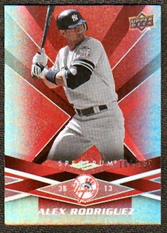 2009  Upper Deck Spectrum Red #64 Alex Rodriguez /250