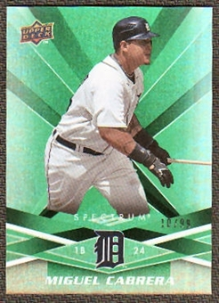 2009 Upper Deck Spectrum Green #35 Miguel Cabrera /99