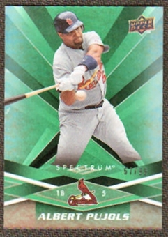2009 Upper Deck Spectrum Green #87 Albert Pujols /99