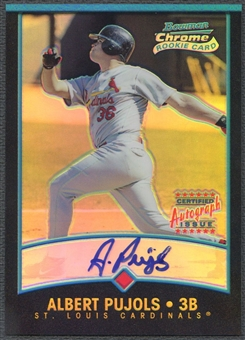 2001 Bowman Chrome #340 Albert Pujols Rookie Auto #424/500