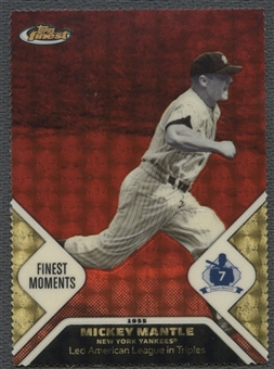 2006 Finest #M18 Mickey Mantle Mantle Moments Die-Cut SuperFractors #1/1