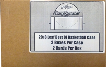 2012/13 Leaf Best Of Basketball Hobby Case