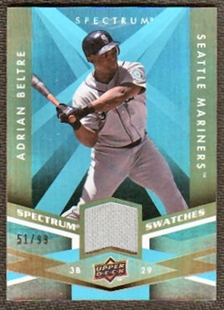 2009 Upper Deck Spectrum Spectrum Swatches Light Blue #SSAB Adrian Beltre /99