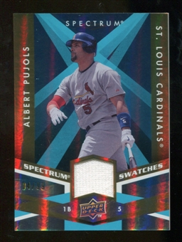 2009 Upper Deck Spectrum Spectrum Swatches Light Blue #SSAP Albert Pujols /99