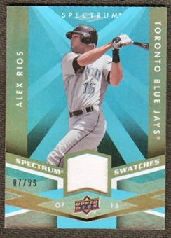 2009 Upper Deck Spectrum Spectrum Swatches Light Blue #SSAR Alex Rios /99