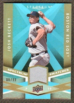 2009 Upper Deck Spectrum Spectrum Swatches Light Blue #SSBE Josh Beckett /99