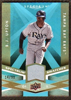 2009 Upper Deck Spectrum Spectrum Swatches Light Blue #SSBJ B.J. Upton /99
