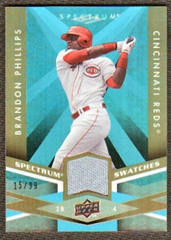 2009 Upper Deck Spectrum Spectrum Swatches Light Blue #SSBP Brandon Phillips /99
