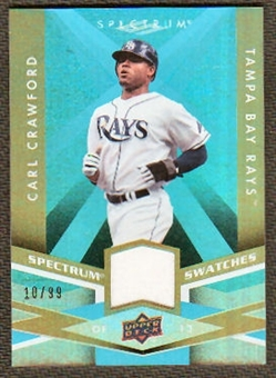 2009 Upper Deck Spectrum Spectrum Swatches Light Blue #SSCC Carl Crawford /99