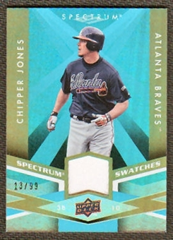 2009 Upper Deck Spectrum Spectrum Swatches Light Blue #SSCJ Chipper Jones /99