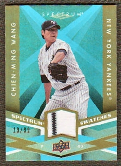 2009 Upper Deck Spectrum Spectrum Swatches Light Blue #SSCW Chien-Ming Wang /99