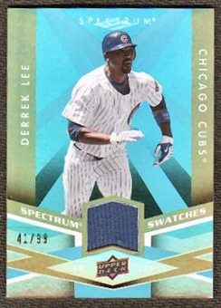 2009 Upper Deck Spectrum Spectrum Swatches Light Blue #SSDL Derrek Lee /99