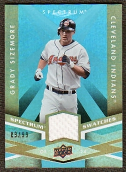 2009 Upper Deck Spectrum Spectrum Swatches Light Blue #SSGS Grady Sizemore /99