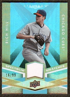 2009 Upper Deck Spectrum Spectrum Swatches Light Blue #SSHI Rich Hill /99