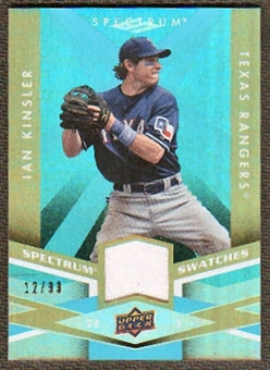 2009 Upper Deck Spectrum Spectrum Swatches Light Blue #SSIK Ian Kinsler /99