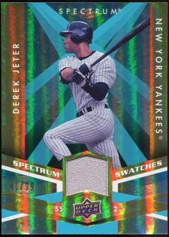 2009 Upper Deck Spectrum Spectrum Swatches Light Blue #SSJE Derek Jeter /99