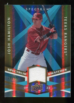 2009 Upper Deck Spectrum Spectrum Swatches Light Blue #SSJH Josh Hamilton /99