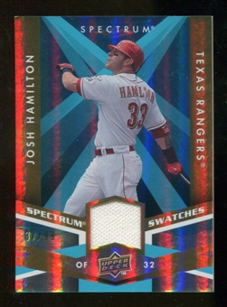 2009 Upper Deck Spectrum Spectrum Swatches Light Blue #SSJO Josh Hamilton /99