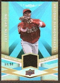 2009 Upper Deck Spectrum Spectrum Swatches Light Blue #SSJU Justin Upton /99