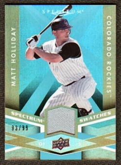 2009 Upper Deck Spectrum Spectrum Swatches Light Blue #SSMH Matt Holliday /99