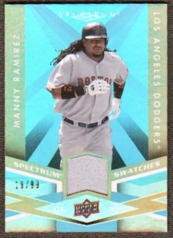 2009 Upper Deck Spectrum Spectrum Swatches Light Blue #SSMR Manny Ramirez /99
