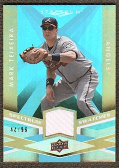 2009 Upper Deck Spectrum Spectrum Swatches Light Blue #SSMT Mark Teixeira /99