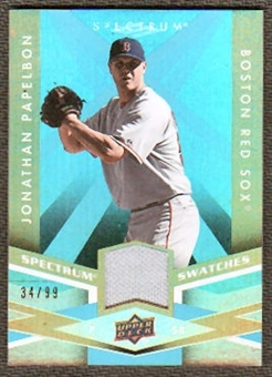 2009 Upper Deck Spectrum Spectrum Swatches Light Blue #SSPA Jonathan Papelbon /99