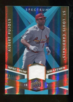 2009 Upper Deck Spectrum Spectrum Swatches Light Blue #SSPU Albert Pujols /99