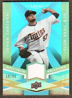 2009 Upper Deck Spectrum Spectrum Swatches Light Blue #SSSA Johan Santana /99