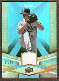 2009 Upper Deck Spectrum Spectrum Swatches Light Blue #SSSK Scott Kazmir /99