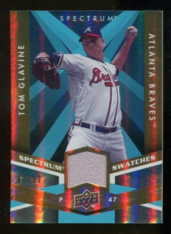 2009 Upper Deck Spectrum Spectrum Swatches Light Blue #SSTG Tom Glavine /99