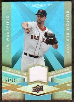 2009 Upper Deck Spectrum Spectrum Swatches Light Blue #SSTW Tim Wakefield /99