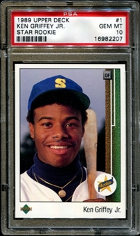 1989 Upper Deck Baseball #1 Ken Griffey Jr. Rookie PSA 10 (GEM MT) *2207