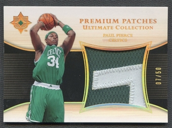 2005/06 Ultimate Collection #PPPP Paul Pierce Premium Patch #07/50