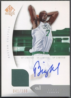 2005/06 SP Authentic #5 Al Jefferson Limited Jersey Auto #041/100