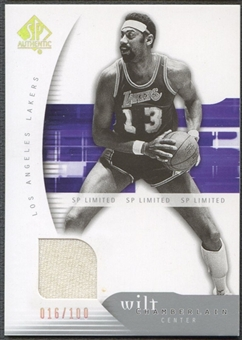 2005/06 SP Authentic #39 Wilt Chamberlain Limited Jersey #016/100