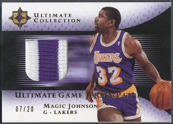 2005/06 Ultimate Collection #UJPMA Magic Johnson Gold Patch #07/20