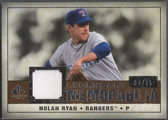 2008 Upper Deck SP Legendary Cuts #NR Nolan Ryan Legendary Memorabilia Jersey #07/75