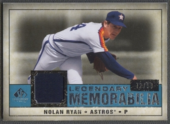 2008 SP Legendary Cuts #NR3 Nolan Ryan Legendary Memorabilia Jersey #72/99